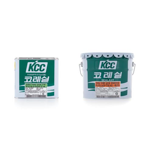 우레탄(코레실) KCC 실리콘 PU-9330(N)/회색(주제+경화제)