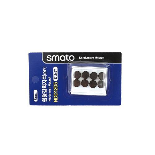 원형강력자석(DIY) 스마토 NDD1205(D12x5.0T/1판8EA)