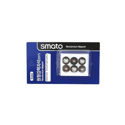원형강력자석(DIY) 스마토 NDD1504(D15x4.0T/1판6EA)